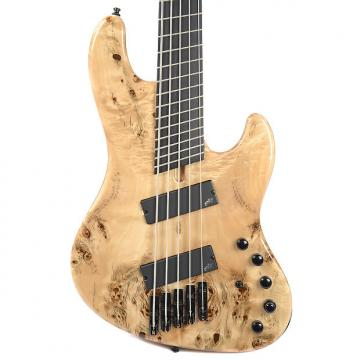 Custom Mayones Jabba Custom EP 5 VF Fanned Fret Buckeye Burl