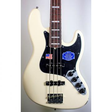 Custom Fender American Deluxe Jazz Bass in Olympic White (2014 Demo Model)