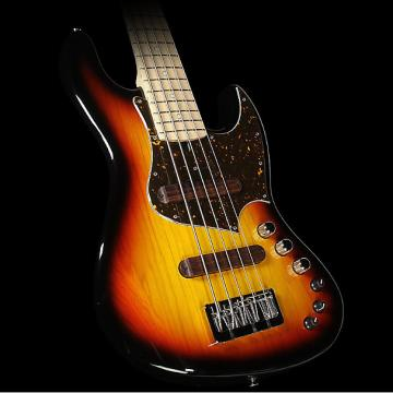 Custom Used 2016 Xotic XJ-1T 5-String Electric Bass Guitar 3-Tone Sunburst