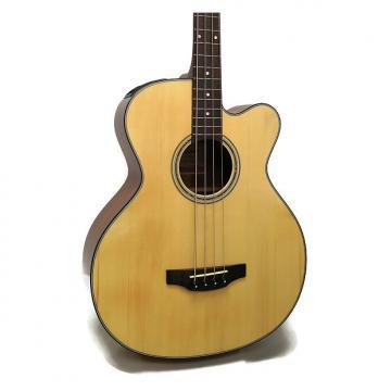 Custom Takamine GB30CE-NAT G Series Jumbo Cutaway Acoustic-Electric Bass - Natural