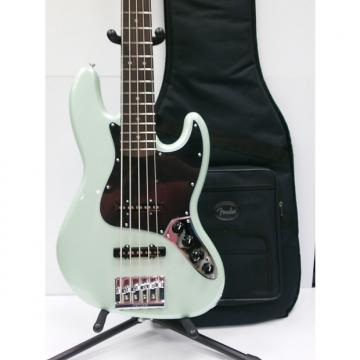 Custom New! Fender Deluxe Active Jazz Bass V in Seafoam Pearl! Deluxe Gig Bag w/ Free Shipping!