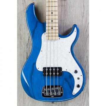 "Custom G&L USA Kiloton Bass, Clear Blue, Maple Fretboard, 1.5"" Nut Width"