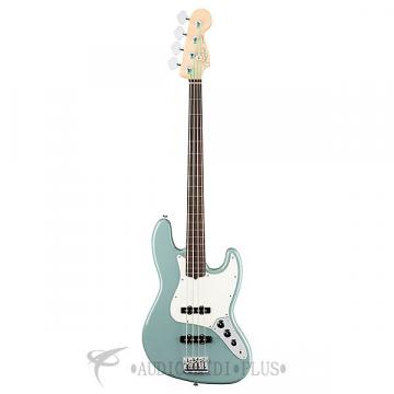 Custom Fender American Pro JAZZ Rosewood Fretless 4 String Electric Bass Guitar Sonic Gray - 0194100748