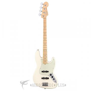 Custom Fender American Pro Jazz MN 4 String Electric Bass Guitar Olympic White - 0193902705 - 885978724413