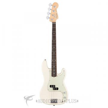 Custom Fender American Pro Precision Bass Rosewood 4 String Electric Bass Olympic White - 0193610705