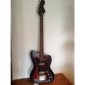 Custom 1965 Silvertone Coral 1443 Bass Long Scale Lipstick Pickups Redburst
