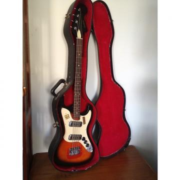 Custom 1972 Harmony H426 Bass Redburst Original Case 2 Dearmond Pickups H22 H25