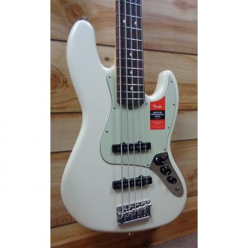 Custom New Fender® American Professional Jazz Bass® V Rosewood Fingerboard Olympic White w/Case