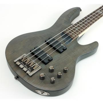 Custom LTD B-204 B Series Bass Guitar | Spalted Maple Top - See Thru Black Satin