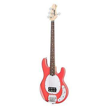 Custom Sterling by Music Man Ray4 Sub Bass Fiesta Red