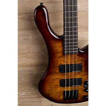 Custom 2017 Wolf S8 4 String Active Passive Jazz Bass Sunburst [2 out of 8]
