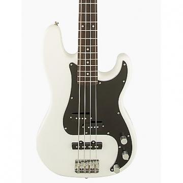 Custom Squier Affinity PJ Bass BWB PG Olympic White