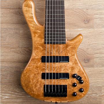 Custom 2017 Wolf S8-7 Natural 7 String Neck Through Bass