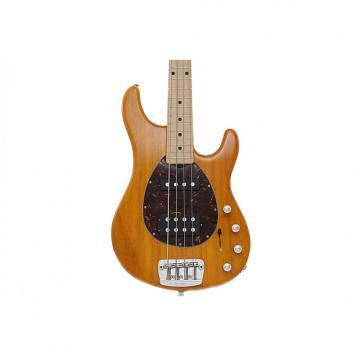 Custom Music Man StingRay 4 Electric Bass Guitar - Translucent Orange, Maple Fingerboard, Pearl Pickguard