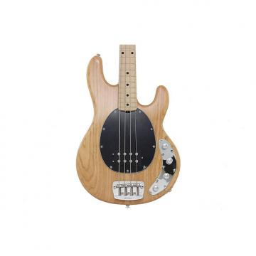 Custom Music Man StingRay 4 Electric Bass Guitar - Natural, Maple Fingerboard, Black Pickguard
