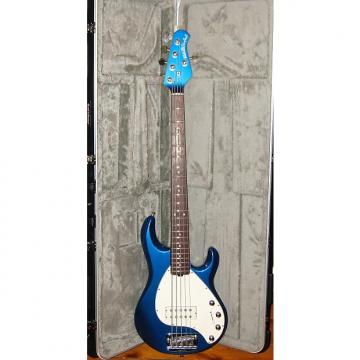 Custom Music Man Stingray 5  blue with matching headstock