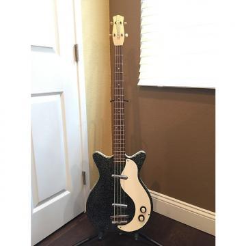 Custom Danelectro DC 59 Silver Sparkle Bass