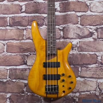 Custom Ibanez SR700 4-String Electric Bass Guitar Natural Amber, Bartolini Pickups!