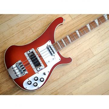 Custom 1972 Rickenbacker 4001 Vintage Electric Bass Guitar Fireglo Toaster Pickup w/hc
