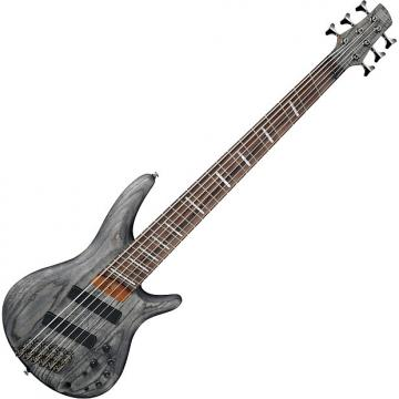 Custom Ibanez SR Bass Workshop SRFF806 Multi-Scale 6 String Electric Bass Black Stained