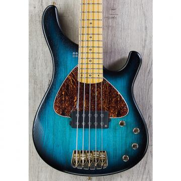 Custom Sandberg Basic 5, Matte Blueburst, Euro Ash Body, Maple Fretboard, 5-String Bass