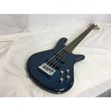 Custom New Spector LG4STDBLSG Bass Quilt Top Blue w/Gig Bag
