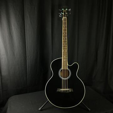 Custom Ibanez AEB5E-BK Acoustic Bass w/ cutaway (Used