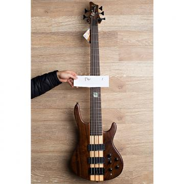 Custom Wolf 5W 2017 Natural Walnut 5 string bass 2/29