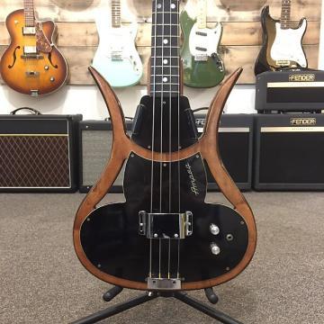 Custom Ampeg ASB-1 Devil Scroll Bass Solid Body RARE w/Original Case