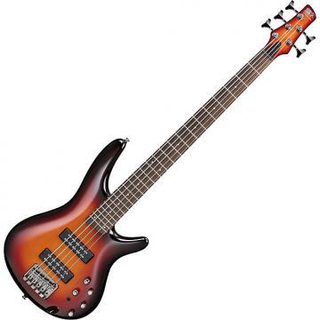 Custom Ibanez SR Standard SR375E 5 String Electric Bass Aged Whiskey Burst