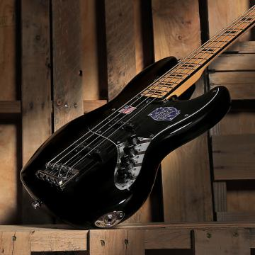 Custom Fender American Deluxe Jazz Electric Bass Black