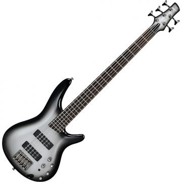 Custom Ibanez SR Standard SR305E 5 String Electric Bass Metallic Silver Sunburst