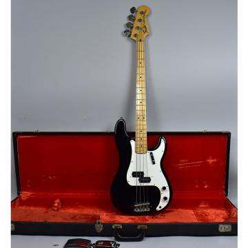 Custom Fender   Precision Vintage American Electric Bass Guitar Black Finish w/OHSC 1973 Black