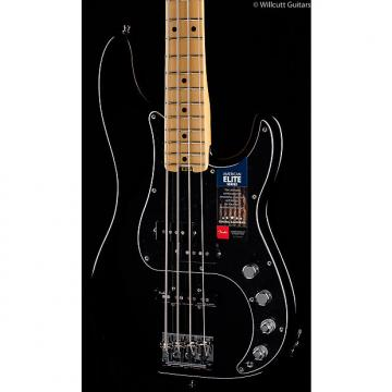 Custom Fender American Elite Precision Bass Black Maple (440)