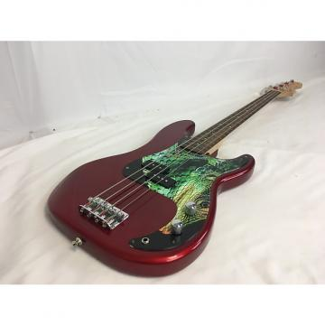 Custom Squier by Fender Precision Bass W/Gig Bag Red