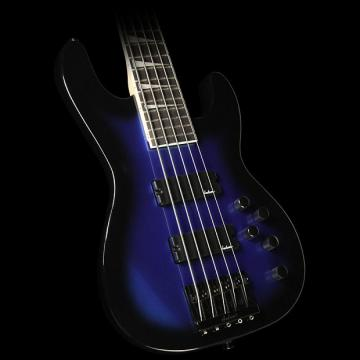 Custom Jackson JS3V Concert Electric Bass Guitar Metallic Blue Burst