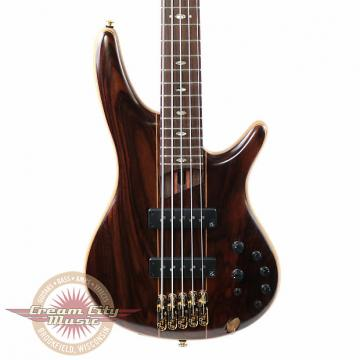 Custom Brand New Ibanez SR1905E Premium Series 5 String Electric Bass in Natural Low Gloss with Gig Bag