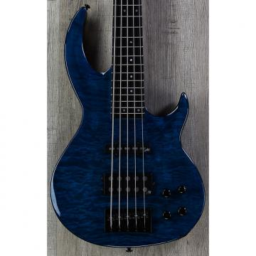 Custom ESP LTD BB-1005 Bunny Brunel 5-String Bass Quilted Maple Top Black Aqua, Aguilar