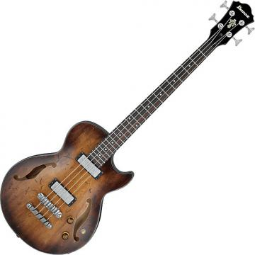 Custom Ibanez Artcore Vintage AGBV200A Semi Hollow Electric Bass Tobacco Burst