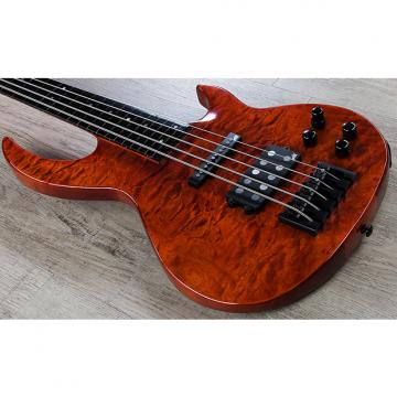Custom ESP LTD BB-1005 Fretless Bunny Brunel 5-String Bass Quilted Maple Burnt Orange