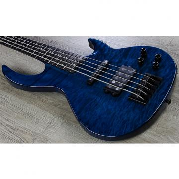 Custom ESP LTD BB-1005 Bunny Brunel 5-String Electric Bass Quilted Maple Top Black Aqua
