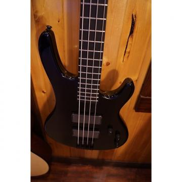 Custom Wolf 4 String Active Jazz Bass Black Ebony Fingerboard