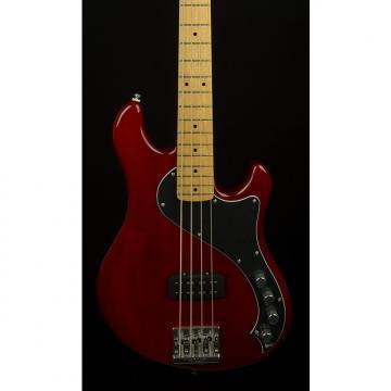 Custom Fender Squier Deluxe Dimension Bass IV Crimson Red Transparent