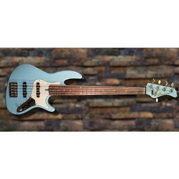 Custom New York Bass Works Reference Series RS5-22 Sonic Blue/ Alder w/ Madagascar rosewood