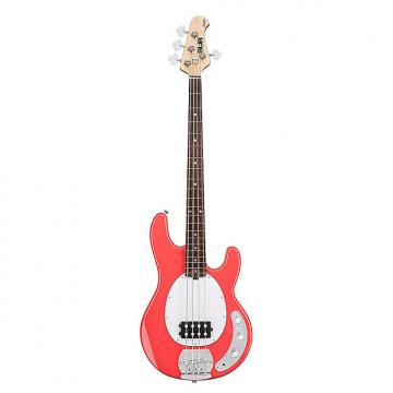 Custom Sterling by Music Man Ray4 4-String Electric Bass Rosewood Fretboard Fiesta Red