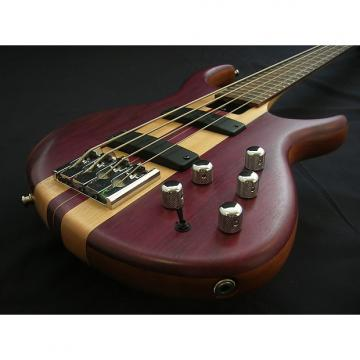 Custom Tobias Basic Bass * Walnut/Purple Heart *Made in USA *Exc Cond *Neck Thru Body