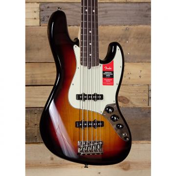 Custom Fender American Pro Jazz Bass V 3 Color Sunburst w/ Case
