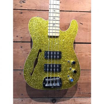 Custom G&L ASAT Bass Double Bound Semi Hollow Gold Metal Flake