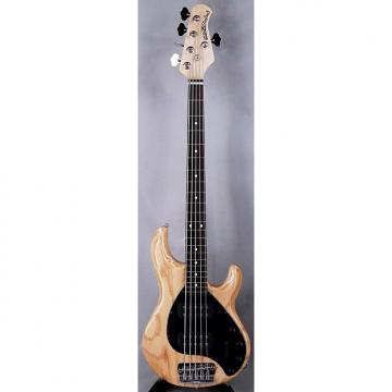 Custom Ernie Ball Music Man StingRay 5HH 5 String Electric Bass with Case in Natural