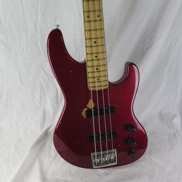Custom 1990 Red Fender Jazz Bass